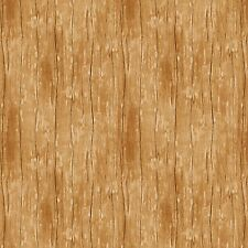 Blonde Tan Wood Texture Fabric, The Way Home, Wilmington Prints (By 1/2 yd)