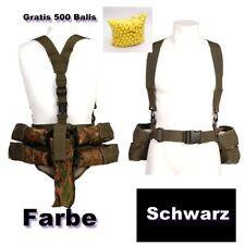 Schwarz Träger Paintball Pod Weste Camouflage Battlepack inkl 4x Pod + Paint