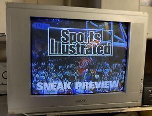 20 Inch STEREO Flat CRT TV S-video Svhs Rear AV Input RETRO GAMING