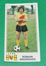 N°87 R. ARGHIRUDIS RC LENS RCL BOLLAERT SANG & OR PANINI FOOTBALL 77 1976-1977