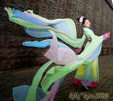 China Tang Kimono Green Fairy Dancing Dress Cosplay Custom Made Chinese Han Fu
