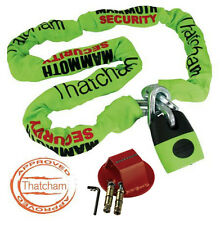 MAMMOTH LOCM003 1.8m CHAIN LOCK THATCHAM MOTORCYCLE CAT 3 + RS GROUND ANCHOR NEW