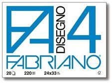 05PZ FABRIANO F4 Album da disegno 4Angoli 220gr. 24x33cm. 20Fg.LISCIO RIQUADRATI