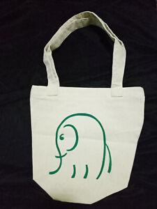 Hand painted canvas tote bag elephant shopping fasion handbag women free shippin