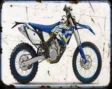 HUSABERG fe 570 12 A4 Metal Sign moto antigua añejada De