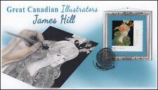 Ca18-031, 2018, Great Canadian Illustrators, Pictorial, Fdc, James Hill