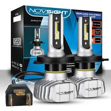 NOVSIGHT H4 9003 LED Headlight Kit Hi/Low Beam Bulbs 10000LM Super Bright Lamp