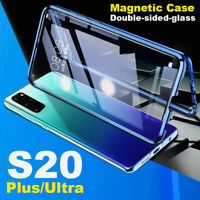 Magnetic Double Side Glass Case Phone Cover For Samsung A51 A71 S20 Ultra S20 5G