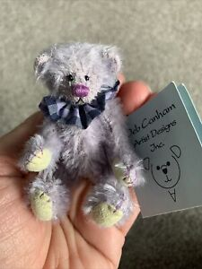 "DEB CANHAM  "" LILAC LIL"" LILAC MOHAIR-FULLY JOINTED-MINI 3 1/4"" W/Tag No Box"