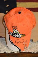 DANICA PATRICK Autographed Go Daddy Orange Black White #7 Adjust Hat Ball Cap