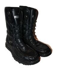 Puma Stiefel Gr. 41 UK 7,5 schwarz Leder Teddy-Futter Fake Fur Schürstiefel Boot
