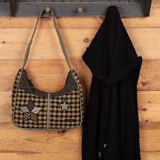 VHC Primitive Shoulder Bag Farmhouse Star Blakely Handbags Black Cotton