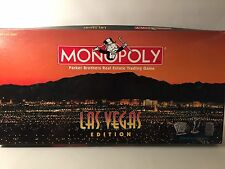 Monopoly Las Vegas Edition Parker Brothers Real Estate Trading Game USED
