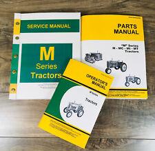 Service Manual Set For John Deere M Tractor Parts Operators Owners Shop Repair