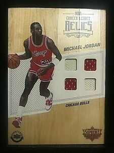 "2016-17 UDA Supreme Hardcourt Career Legacy Relics Michael Jordan 5""x 7"" CLR-MJ1"