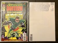 1st PARALLAX lot AUTOGRAPHED signed GREEN LANTERN #50 + ZERO HOUR #0 Kyle Rayner