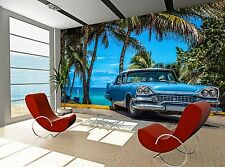 Car on the Beach  Wall Mural Photo Wallpaper GIANT DECOR Paper Poster Free Paste