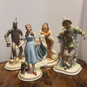 Wizard of Oz Lenox Dorothy Scarecrow Tin Man and Cowardly Lion 4 Piece Set
