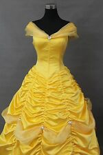 Custom Made Princess Belle Beauty And The Beast Cosplay Costume T045 Pretty