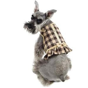 Martha Stewart Buffalo Check Dog Harness Coordinating Leash Dress Tan