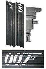 "2pc Micro Scalextric 1/64 HO Slot Car 15"" Straight Track Add on James Bond 007"