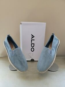 New in Box ALDO Mens SELANIA Leather casual espadrilles Loafers - Light Blue