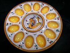 Deruta Majolica Italian Pottery - Raffaellesco EGG PLATE -- New!