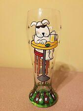 Pilsner Beer Glass 24oz NewTop Shelf Man's Best Friend  Handpainted Dog at Bar