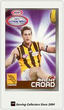 2007 Kraft Dairy AFL Action Heroes Card #9 Trent Croad (Hawthorn)