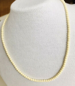 Vintage Art Deco Cream Celluloid Beads With Traditional Barrel Clasp Quality