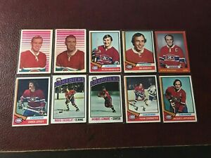 Vintage 1960's & 70's Topps & OPC Montreal Canadiens Lot Hall of Famers V.Good