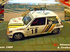 RENAULT 5 Turbo GT Rallye Monte Carlo 1989 #19 Oreille Diac IXO Altaya  1:43