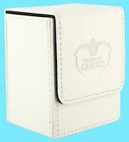ULTIMATE GUARD LEATHERETTE FLIP DECK CASE Standard Size WHITE 80+ MTG Card Box