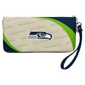 Seattle Seahawks NFL Women's Curve Zip Organizer Wallet / Purse