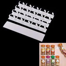 Kitchen Organizer Storage Rack 20 Cabinet Door / Wall Spice Clips White - Holder