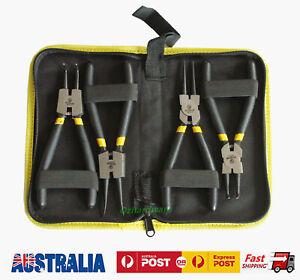 "4pc 7"" Circlip pliers set Internal / External / Bent /Straight Ring Remove 175mm"