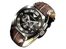 NEU Emporio Armani Chronograph, Leder, Herren-Armbanduhr, UVP 359,-€  AR5847