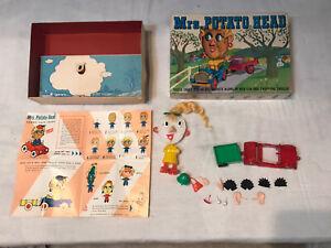 1960's Mrs. Potato Head Toy with original Box Hasbro Mr Car Wonderful Funny Face