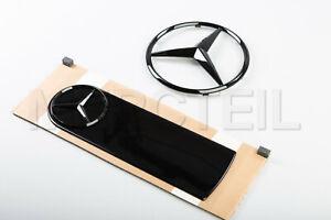 New Genuine Mercedes W463a W464 G Class Star Emblem + Spare Wheel Cover Black