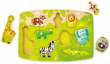 Hape Jungle Peg Puzzle Pre-School Young Children Wooden Toy Game Bn