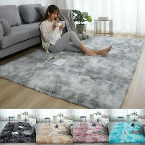 Anti-Slip Fluffy Rugs Large Shaggy Rug Super Soft Mat Living Room Bedroom Carpet