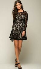 NWT Damask Sweetheart Dress By Agaci Black size Small 2/4