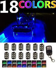 Wireless Control LED Boat Deck Marine Lights Kit Waterproof 12 Pod For Pontoons