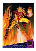 Fleer 1994 X-Men Ultra #71 Super-Villains Card Pyro