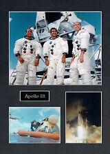 Apollo 12 16x12 Mounted Crew Photo Astronaut Space Montage