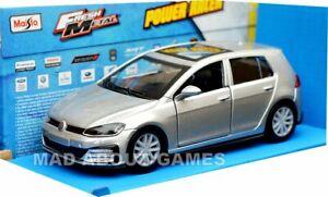 VW VOLKSWAGEN GOLF (12CM) Car Model PULL BACK & GO Metal Miniature Silver