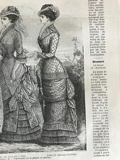 MODE ILLUSTREE SEWING PATTERN July 4,1880- DRESSES percale; veil, satin
