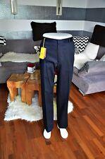 Etro pantalones de lana NP 350 € - gr 54 azul oscuro * nuevo *