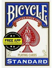 Bicycle (1001512) Poker Size Standard Index Playing Cards - Blue and Red