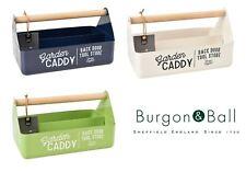 Burgon & Ball Metal Garden Allotment Shed Tool Caddy Green, Blue or Cream